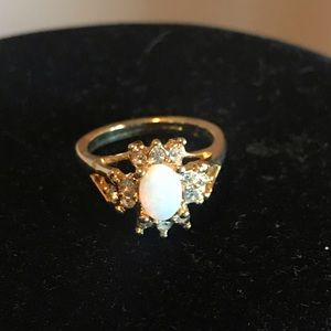 Avon Created Opal Ring Size 7